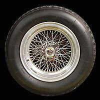 old ferrari car wheel and tyre 2