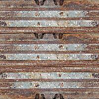 rusty excavator track wheel 1