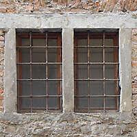 medieval double window