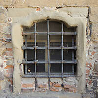 old and corroded window frame