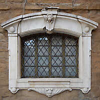 stone frame medieval florence window