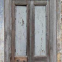 very old wood window frame