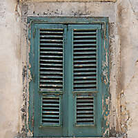 window venice green old paint year 1500