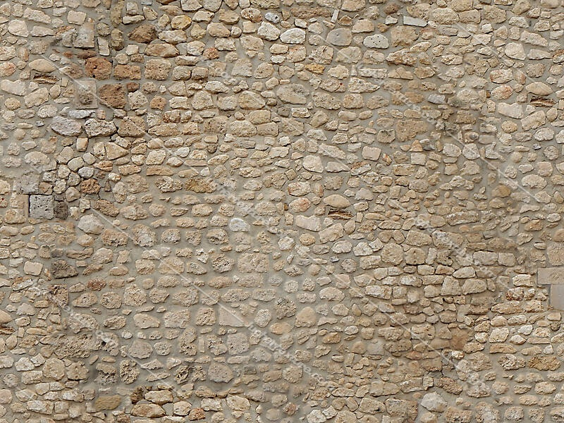 stone bricks wall with door 7