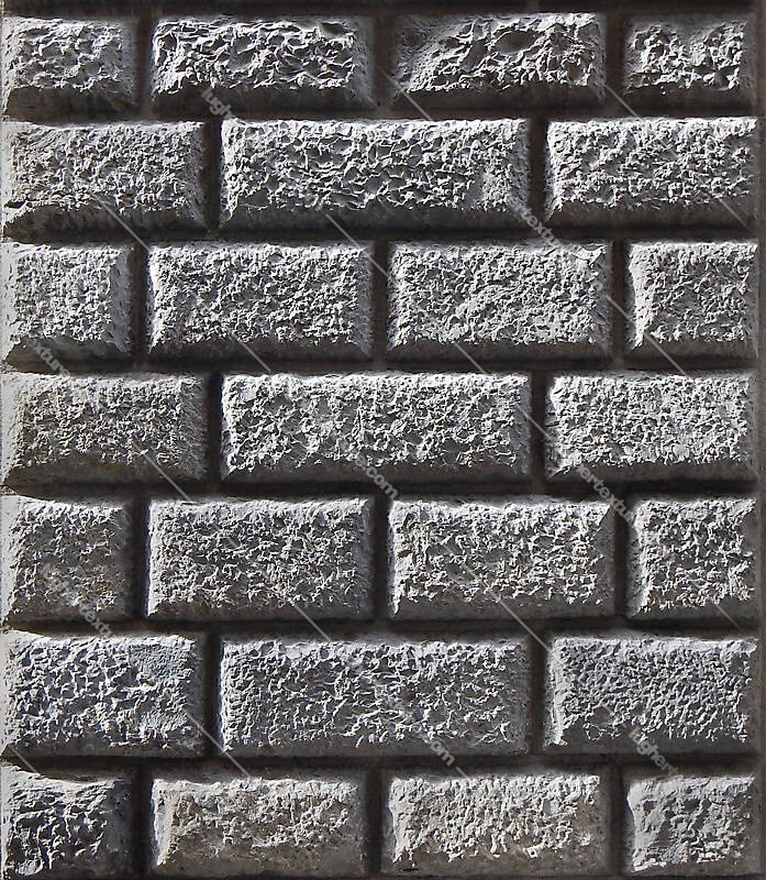 bossage plaster corrugated bricks