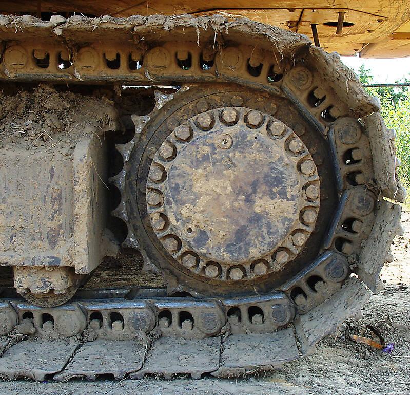 Texture Rusty Excavator Track Wheel 2 Vehicles