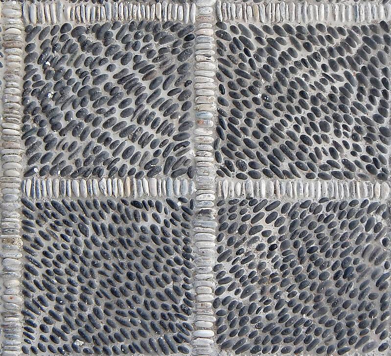 Texture Black And White Pebbles Greek Mosaic Seamless 1