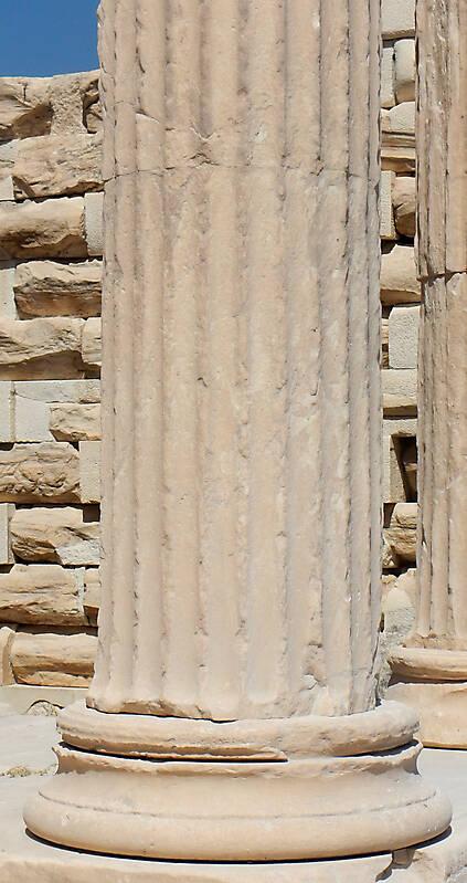 Texture Greek Pillar White Stone 3 Stone Pillars