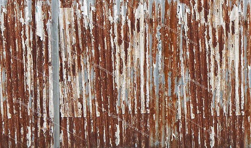 undulating rusty iron panel 1