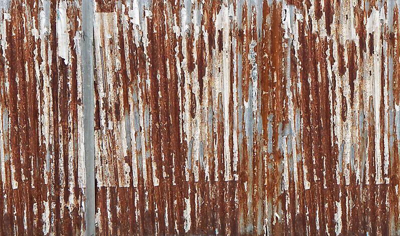Texture Undulating Rusty Iron Panel 1 Rusted Metal