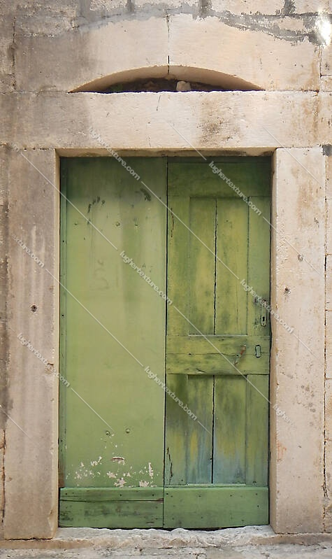 ruined paint old door green 9