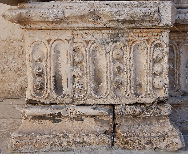 very old stone decoration 36