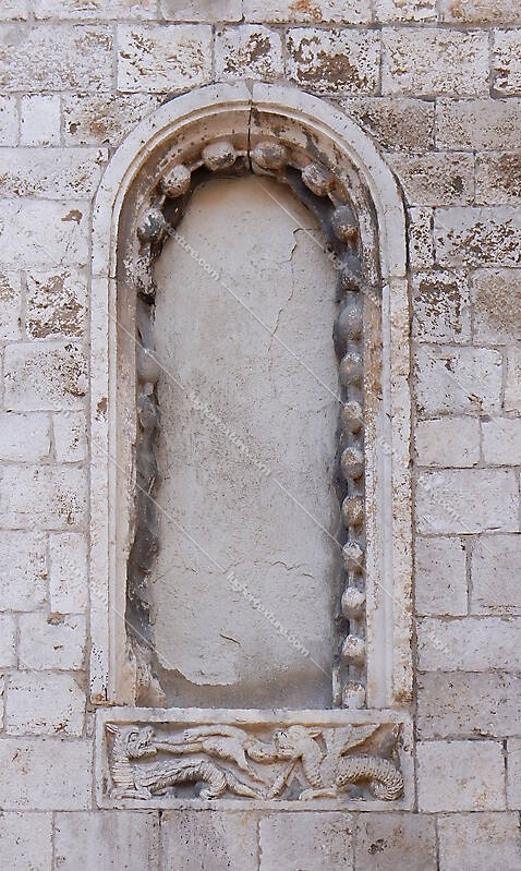 old medieval window with wall 8