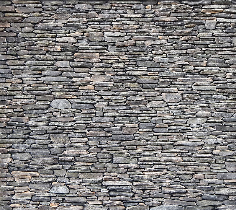 Irregular rock bricks wall dark