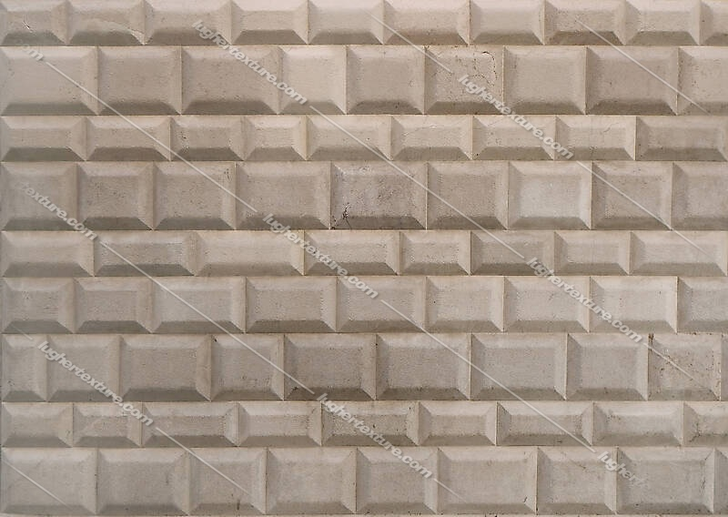 white bossage blocks wall