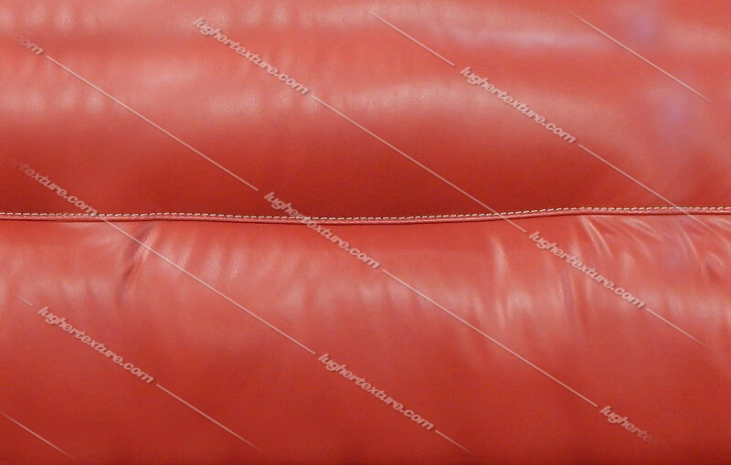 red leather backrest couch with sewings 2