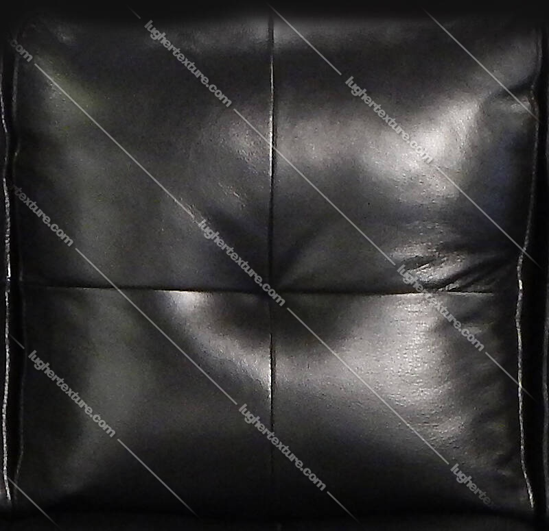 Black Leather Backrest Couch Pillows 1