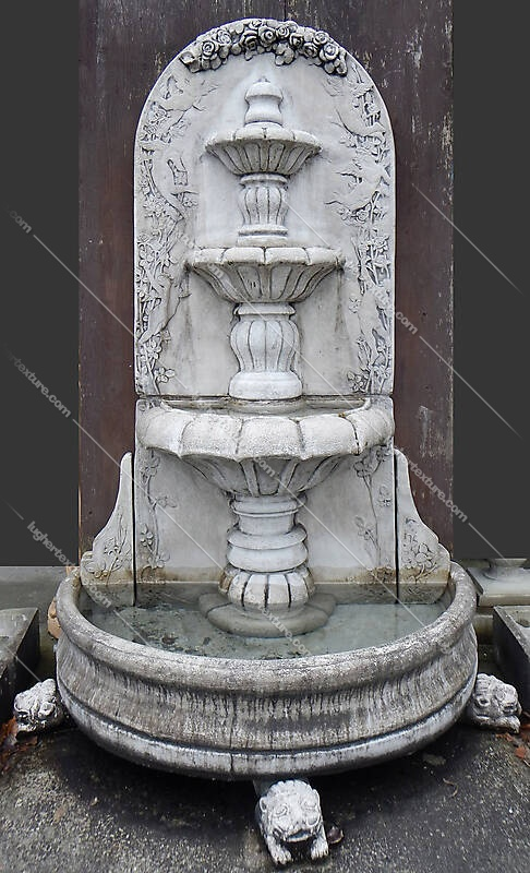 Old Roman european fountain 7
