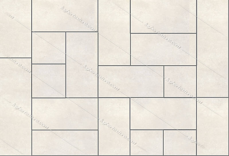 Stone tiles white different size