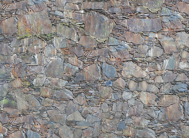 rusty rocks wall