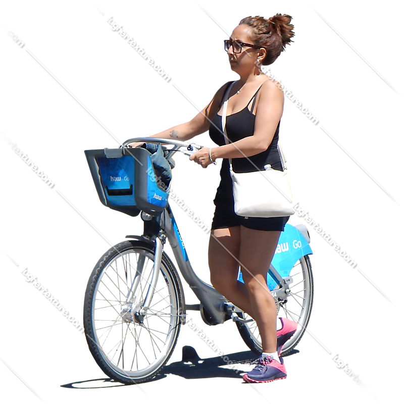 girl on bike png
