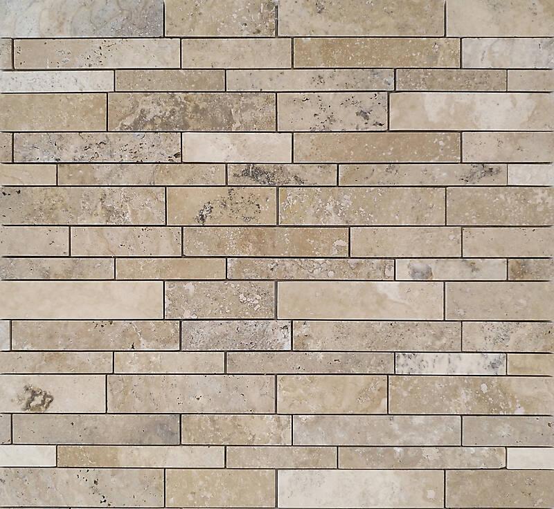 Texture Stone Random Strips Modern Tiles Lugher
