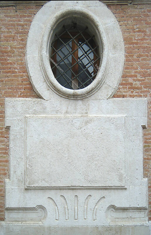 stone plate with window