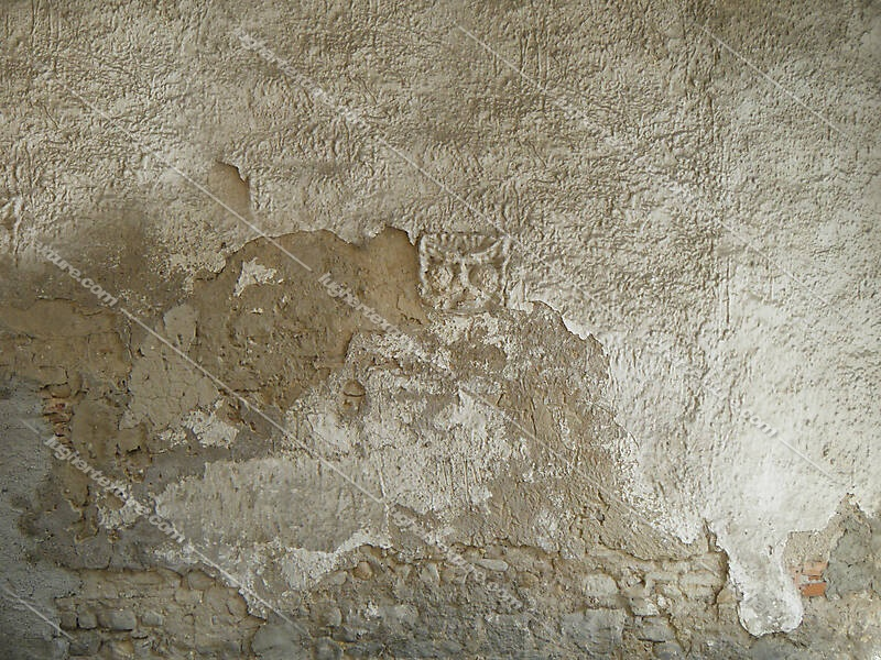 very old plaster wall