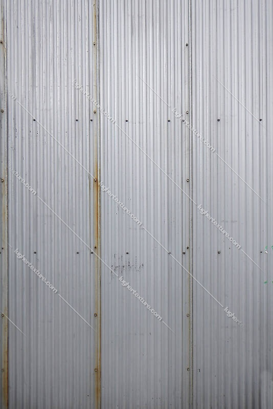 corrugated metal plate