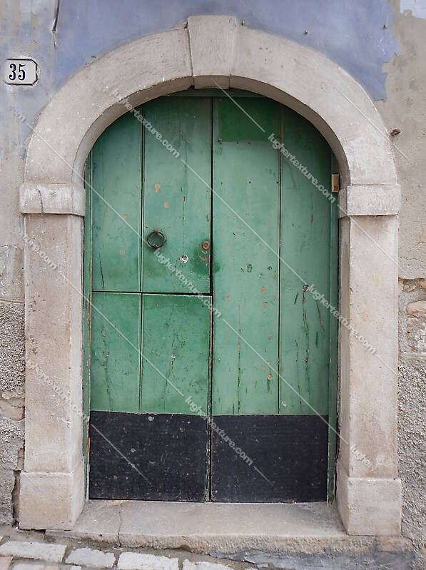 door medieval green year 1900 2